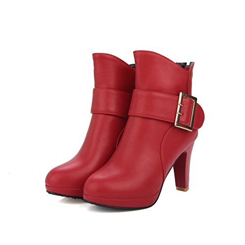 Rouge Femme Red Abl10498 Balamasa Sandales Compensées Swoqxovti zxdwqd8F0