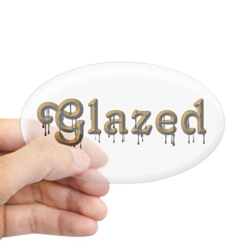 CafePress - Glazed Oval Sticker - Oval Bumper Sticker, Euro Oval Car Decal Oval Glazed