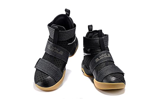 Men's Women's Air Zoom Basketball Shoe Soldier 10 Basketball Trainers Sneaker black US9.5 (Lebron Zoom Soldier 10 Black And Gold)