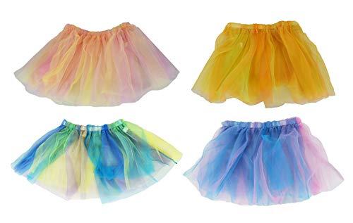 Set of 4 Multi-Colored Tutu's! Fairy Tutu's, Princess & Unicorn Tutu's! Perfect for Any Costume! (Set of All 4)