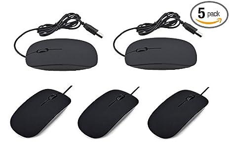 Amazon.com: (5 Pack) BacchaBox Black Wired USB 1000 DPI Optical ...