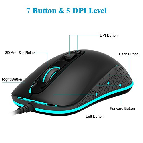 Jelly Comb Gaming Mouse 4000 Dpi Programmable High