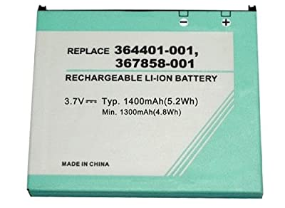Replacement Battery for 3.70V 1400mAh 5.20Wh HP HSTNH-H03C, HSTNH-L05C, HSTNH-M03B-SL, HSTNH-M03B-SS, iPAQ hx2495B, iPAQ hx2000, iPAQ hx2795B, hx2195B by Shipped from and sold by battery_king