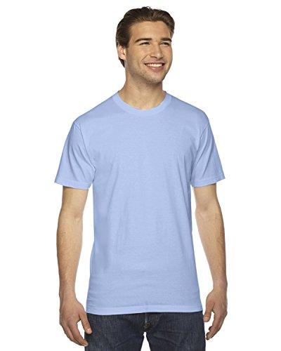 Juniors Baby Jersey T-shirt - American Apparel 2001W Unisex Fine Jersey Short-Sleeve T-Shirt Baby Blue S