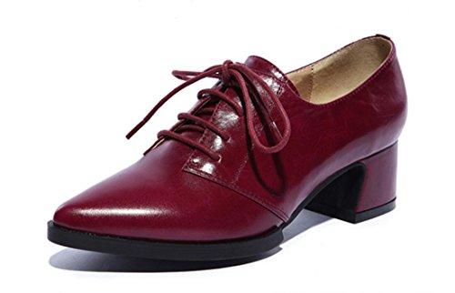 Chaussures Chaussures Noir purple Automne Rouge confortables Femmes en 120W 38 39 Printemps Mode Loisirs Lumière Rose 35 Hiver véritable red 37 cuir 34 36 Violet XDGG fwxqCgX5X