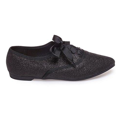 Negro Mujer La Para Modeuse Cordones De Zapatos HnAYSa4
