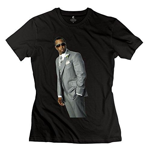 Manrv Womens Sean P. Diddy Combs Tshirts M Black