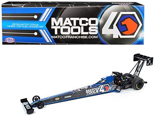 (2019 Funny Car NHRA Antron Brown TFD (Top Fuel Dragster) Matco Tools 40th Anniversary 1/24 Diecast Model Car by Auto World CP7586)