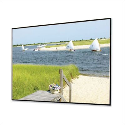 "Clarion Grey Fixed Frame Projection Screen Viewing Area: 106"" diagonal"