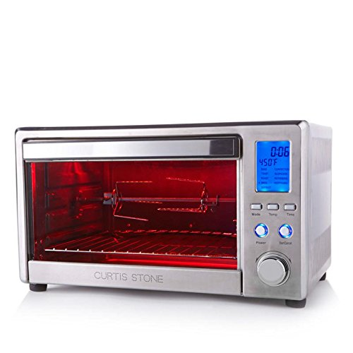 Curtis Stone 26 Liter Digital Rotisserie and Convection Oven Infrared Plus Recipes (Certified Refurbished)