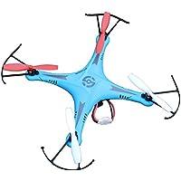 Night lions Tech (TM) SXMJ 102 Spy 2.4G 6 axis ufo mini RC Drone Quadcopter Aerobatics RTF Blue