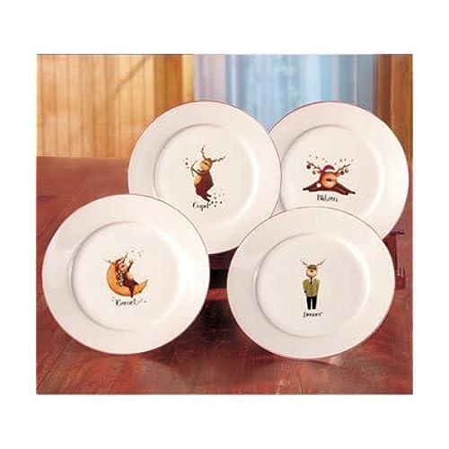 Reindeer Plates: Amazon.com