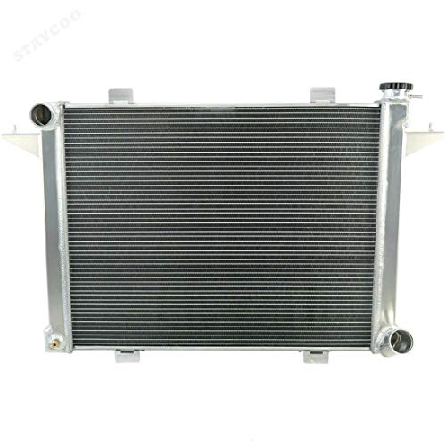STAYCOO 3 Row All Aluminum Radiator for 1989-1993 Dodge D250 D350 W250 W350 5.9L Diesel Turbo Cummins