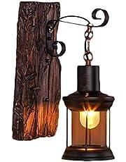 Lampa ścienna E27, drewniana, styl retro, lampa do salonu, lampa ścienna do sypialni, kreatywne oświetlenie na klatkę schodową, korytarz, kawiarnię, bar, do wnętrz, restauracji, hotelu, szklany klosz
