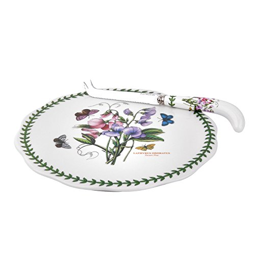 Portmeirion 601024 Botanic Garden Cheese Plate & Knife, 9