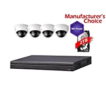 iCare 8 Channel Package: NVR4108 W/2TB WD Purple HDD, 4POE + 4 x 3MP HDBW1320E Outdoor Dome Camera, 2 years warranty, Local US Support