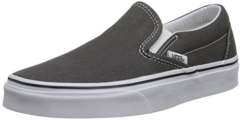 Vans Slip-On(tm) Core Classics, Charcoal (Canvas), Men's 8, Women's 9.5 -