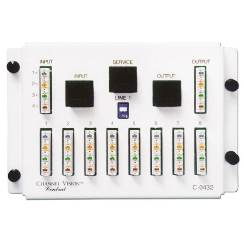 CHANNEL VISION C-0432 1 In 8 Out 110//RJ45 Telecom Distribution Module
