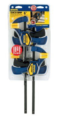 (IRWIN QUICK-GRIP 1964758 One-Handed Mini Bar Clamp 4 Pack, 6