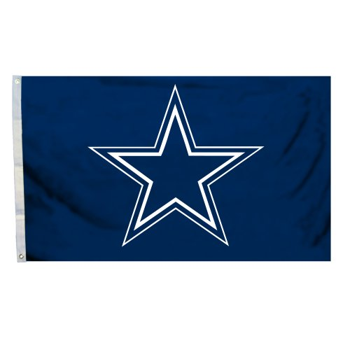 NFL Dallas Cowboys Giant 4 Foot by 6 Foot Flag, Blue, ()