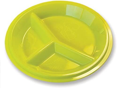 Rehabilitation Advantage 3 Compartment Portion Plate with Lid (Set of 2) 2