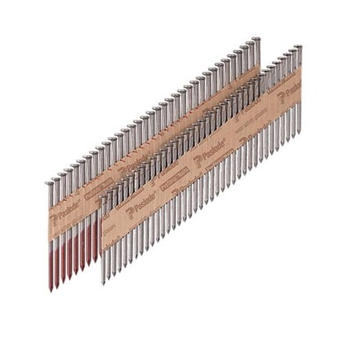 Paslode 650014 1-1/2'' x 0.148'' 30° Full Round Head Galvanized Positive Placement Paper Strip Collated Metal Connector Nails - 3000 per box by Paslode