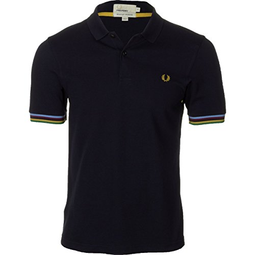 Fred Perry USA Champion Tipped Polo Shirt - Men's Navy, XL