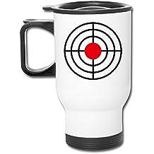 12oz Travel Mug - Target Here Shotting Rapid Fire Pistol Mug