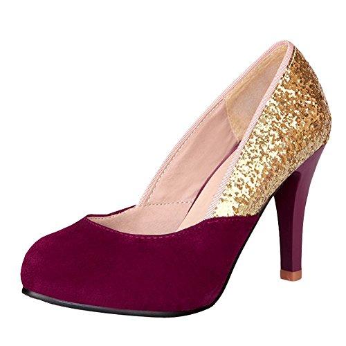 Ruby da Lavoro Elegante MissSaSa Donna Viola Sala per Scarpe vwq7nRFS8W