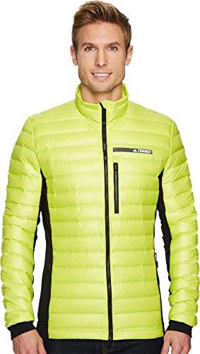 adidas outdoor Men's Terrex Hybrid Down Jacket Semi Solar Yellow/Black X-Large