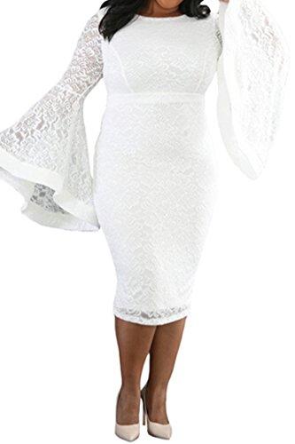 Buy bell sleeve dress plus size - 9