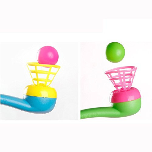 Liping 2PCS Cute and Interesting Blow Pipe & Balls - Pinata Toy Loot/Party Bag Fillers Wedding/Kids Stress Reliever Toy Gift Toys (Ramdon)