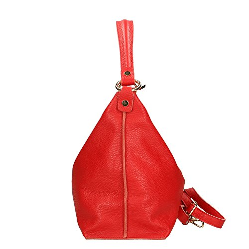 véritable Cm pour en cuir femme fabriqué en à 45x26x14 bandoulière sac italie Aren Rouge tw7xqA0pTx