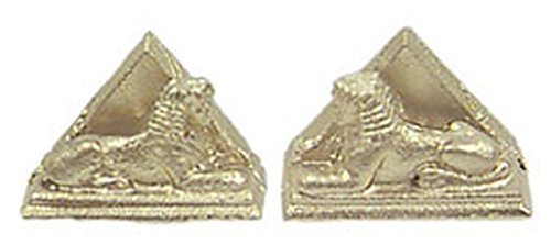 Dollhouse Miniature Egyptian Sphinx Bookends by Island Crafts & (Egyptian Sphinx Miniature)
