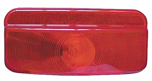 Fasteners Unlimited 89-187 Red Replacement Lens for Compact Tail Light