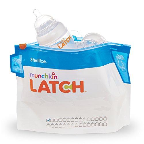 Munchkin Latch Microwave Sterilize Bags, 180 Uses, 6 Pack (Munchkin Feeding Bag)