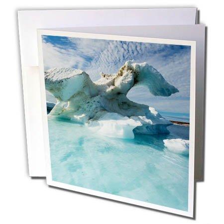 3dRose Danita Delimont - Icebergs - Canada, Nunavut, Repulse Bay, Melting icebergs in Harbor Islands. - 12 Greeting Cards with envelopes (gc_257538_2) -