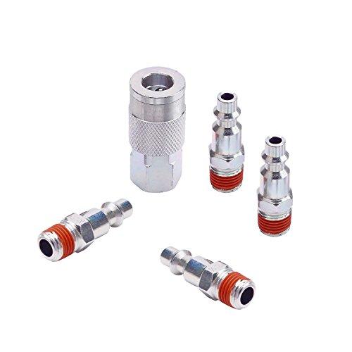 Wynnsky Industrial Type 5 Piece coupler and plug kit w/Storage - Storage Plug
