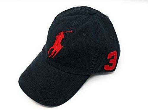 Polo Ralph Lauren Men Big Pony Logo Hat (Polo Black/Red - Logo Red Polo Black Ralph Lauren