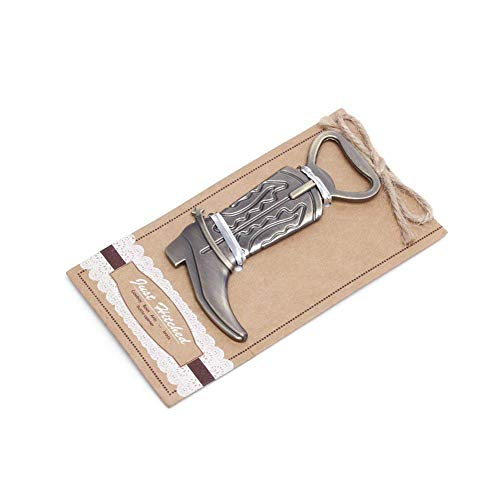 """""""Just Hitched"""" Cowboy Boot Bottle Opener For Wedding Party Favor Gift, Set of 18 Review"""