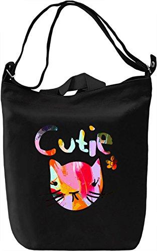 Cutie Borsa Giornaliera Canvas Canvas Day Bag| 100% Premium Cotton Canvas| DTG Printing|
