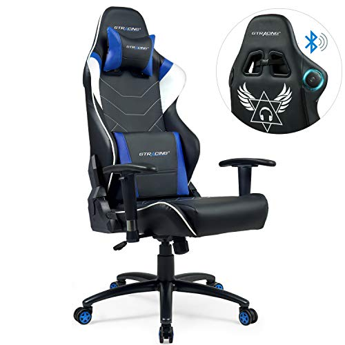 GTRACING Ergonomic Office Chair Racing Chair Backrest and Seat Height Adjustment Computer Chair with Pillows Recliner Swivel Rocker Tilt E-Sports Chair (899-blue) GTRACING