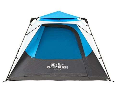 Pacific Breeze Products 4 Person Camping Tent (Blue, 4 Person) ()