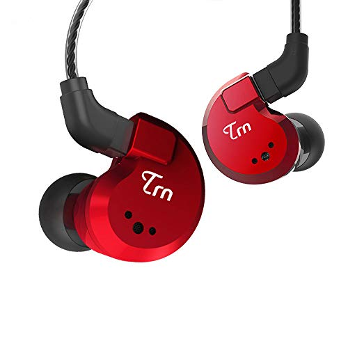 Yinyoo TRN V80 Quad Drivers Headphones 2DD+2BA Hybrid in Ear Earphones in Ear Monitor HiFi Deep Bass Earphones with 2pin…