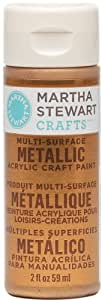 Martha Stewart Crafts Multi-Surface Metallic Acrylic Craft Paint in Assorted Colors (2-Ounce), 32109 Copper