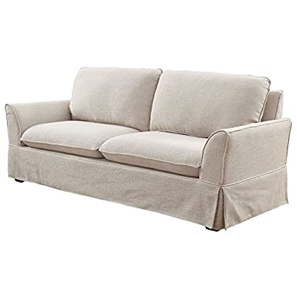 Amazon.com: Furniture of America Osilla Sofa in Beige ...