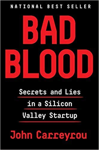 Book cover from Bad Blood by John Carreyrou