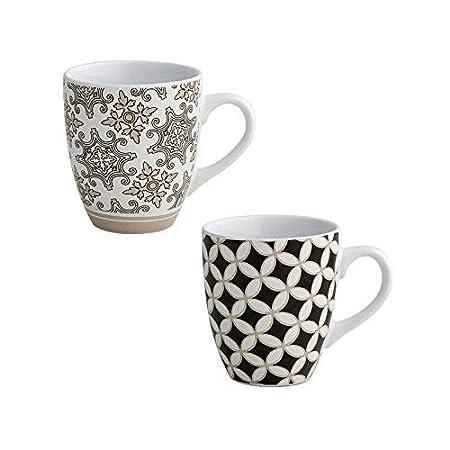 Brandani 53177 Alhambra - Juego de 2 tazas de gres, multicolor ...
