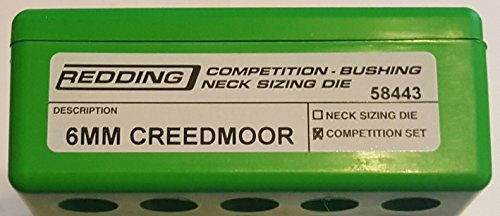Bushing Competition Die Redding Neck (58443 Redding Type-S Competition Bushing Neck Die Set 6mm Creedmoor)