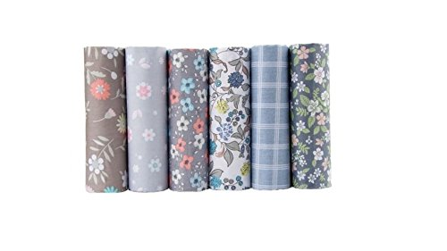 New Flower Cotton Fabric Patchwork Tissue Cloth Of Handmade DIY Quilting Sewing Baby Dress Material 40x50cm (6pcs/lot)]()